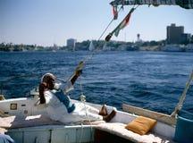Río el Nilo en Asuan Imagenes de archivo