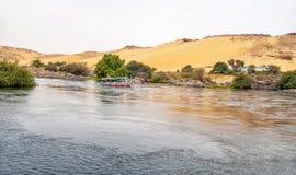 Río el Nilo en Egipto fotografía de archivo libre de regalías