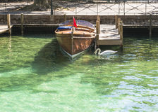 Río en Annecy Imagenes de archivo