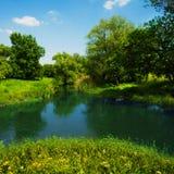 Río en campo Imagen de archivo