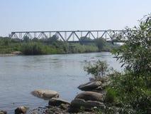 Río en Chernivtsi Fotografía de archivo
