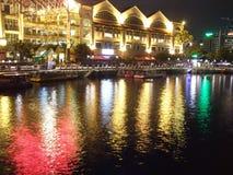 Río en Clarke Quay Imagen de archivo