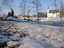 Río en el invierno Imagen de archivo libre de regalías
