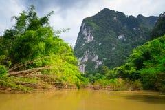 Río en el parque nacional de Khao Sok Foto de archivo