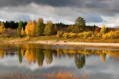 Río en el taiga ruso Fotos de archivo libres de regalías