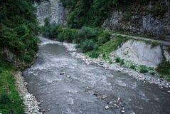 Río en el valle Foto de archivo