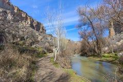 Río en el valle de Ihlara Turquía Fotografía de archivo libre de regalías