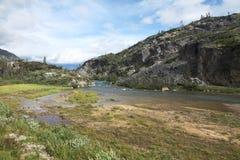Río en el Yukón - Canadá Imágenes de archivo libres de regalías