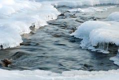 Río en hielo Imagen de archivo libre de regalías