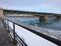 Río en invierno Imagen de archivo libre de regalías