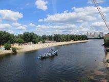 Río en Kiev Foto de archivo