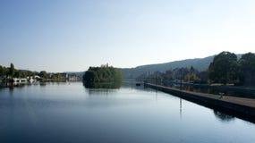 Río en la ciudad de Namur Fotografía de archivo