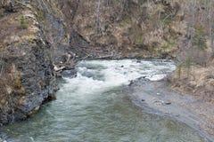 Río en la garganta Foto de archivo libre de regalías