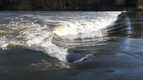 Río en la inundación metrajes