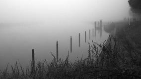 Río en la niebla Imágenes de archivo libres de regalías