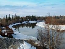 Río en la nieve Foto de archivo