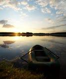 Río en la salida del sol Imagenes de archivo