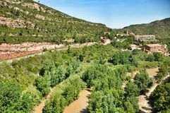 Río en las montañas Montserrat Fotos de archivo