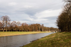 Río en Leipzig, Alemania Imagen de archivo