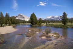 Río en los resortes de la soda, Yosemite NP de Tuolumne Imágenes de archivo libres de regalías