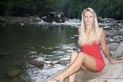 Río en montaña Foto de archivo libre de regalías