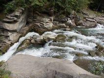 Río en montaña cárpata Foto de archivo
