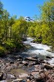 Río en Noruega Imagen de archivo