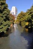 Río en otoño, Christchurch Nueva Zelandia de Avon foto de archivo