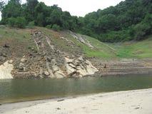 Río en Papanasam, Tamil Nadu Imagenes de archivo