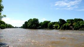 Río en Tigre, Buenos Aires, la Argentina almacen de video