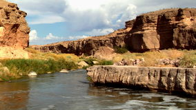 Río escénico en Nevada 1 almacen de video