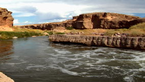 Río escénico en Nevada 3 almacen de video