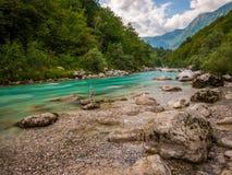 Río europeo de la montaña Fotografía de archivo