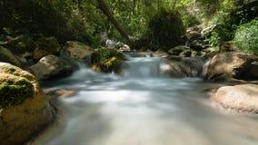 Río fluído de la montaña en las montañas europeas Imagenes de archivo