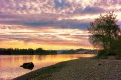 Río Gaula, Noruega Foto de archivo