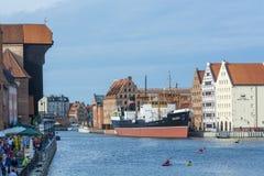 Río Gdansk de Motlawa Imagen de archivo libre de regalías