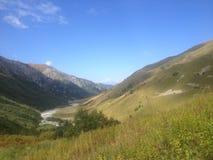 Río glacial en Svaneti superior Imagen de archivo libre de regalías