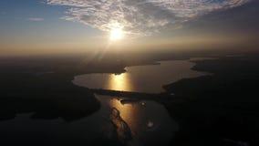 Río grande visto de abejón almacen de video