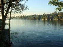 Río hermoso con alrededor greenry Imagen de archivo libre de regalías