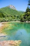 Río hermoso de Neretva del colourof en bosníaco Fotografía de archivo libre de regalías