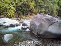 río hermoso de restauración de la opinión de la naturaleza fotos de archivo