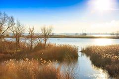 Río hermoso Dnepr en Ucrania imagenes de archivo