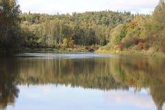 río hermoso Gauja Imágenes de archivo libres de regalías