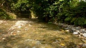 Río hermoso y natural de Kawatuna almacen de metraje de vídeo