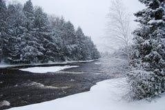 Río hivernal Fotografía de archivo