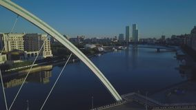 Río Ishim en el horizonte almacen de metraje de vídeo