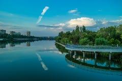 Río Kalmius Fotos de archivo libres de regalías