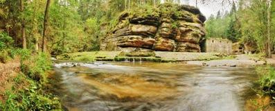 Río Kamenice Foto de archivo libre de regalías