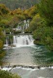 Río Krka Imagen de archivo