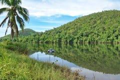 Río Kwai tailandés Fotos de archivo